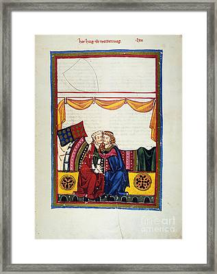 Heidelberg Lieder, 14th C Framed Print by Granger