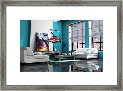 Helicopter Art Framed Print