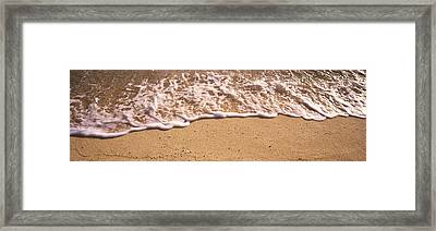 High Angle View Of Surf On The Beach Framed Print by Panoramic Images