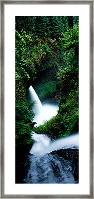 High Angle View Of Waterfall Framed Print