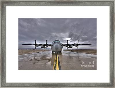 High Dynamic Range Image Of A U.s. Air Framed Print by Terry Moore