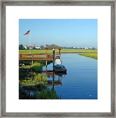 Framed Print featuring the photograph High Tide West Salisbury St Bridge by Phil Mancuso