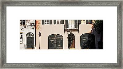 Historic Houses In Rainbow Row Framed Print by Panoramic Images