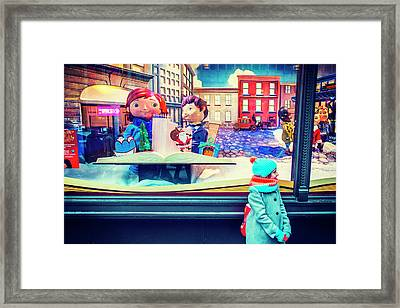 Holiday Widow Display In New York Framed Print
