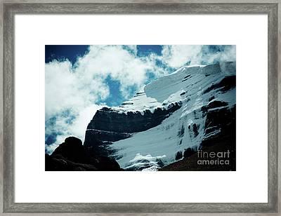 Holy Kailas Fragment Himalayas Tibet Yantra.lv Framed Print by Raimond Klavins