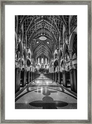 Holy Name Cathedral Framed Print by Mike Burgquist