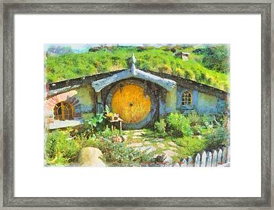 Homes Of The Shire Folk Framed Print