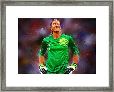 Hope Solo Framed Print