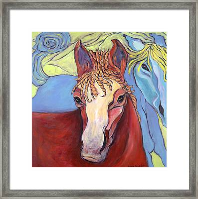 2 Horses Framed Print by Michelle Spiziri