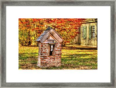 Historic Village In Fall Stanhope New Jersey Framed Print