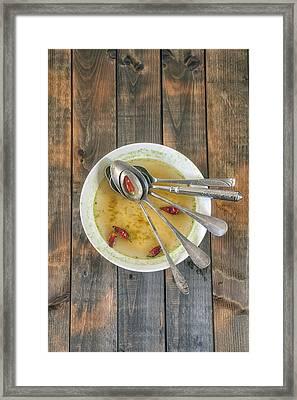 Hot Soup Framed Print by Joana Kruse