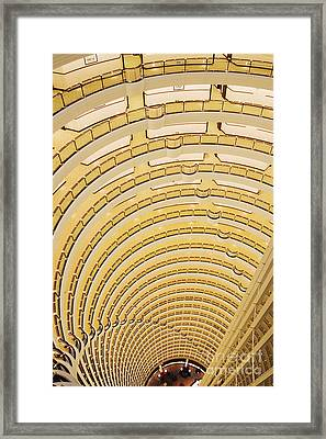 Hotel Atrium In The Jin Mao Tower Framed Print by Jeremy Woodhouse