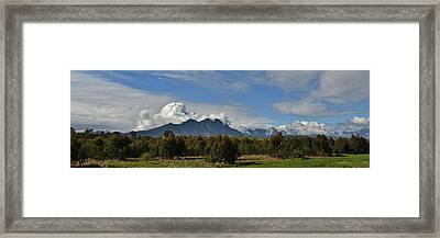 Hottentots Holland Mountains Framed Print by Werner Lehmann