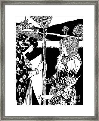 How Morgan Le Fay Gave A Shield To Sir Tristran Framed Print