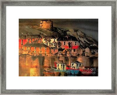 Howth Sunset Dublin Framed Print