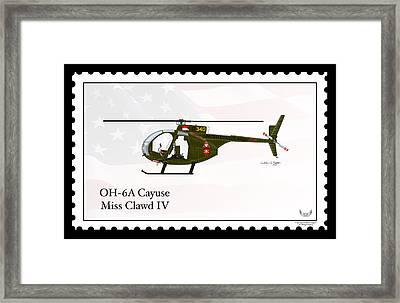 Hughes Oh-6a Cayuse Miss Clawd Iv Framed Print