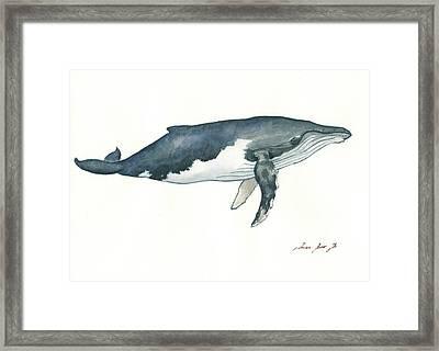 Humpback Whale Framed Print by Juan Bosco