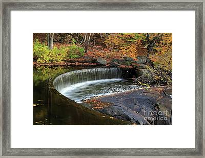 Hunts Mill Dam Framed Print