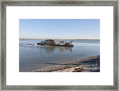 Hydraulic Suction Dredge Framed Print by Inga Spence