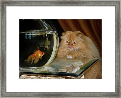Framed Print featuring the digital art I Love Sushi by Thanh Thuy Nguyen