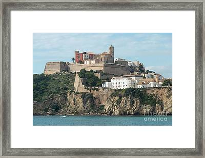 Ibiza Town And Castle Framed Print