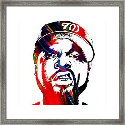 Ice Cube Straight Outta Compton Framed Print by Marvin Blaine