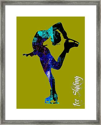Ice Skating Collection Framed Print by Marvin Blaine