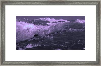2 Ideal Surf Waves Photography And Digital Transformation Framed Print by Navin Joshi
