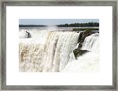 Framed Print featuring the photograph Iguazu Falls by Silvia Bruno