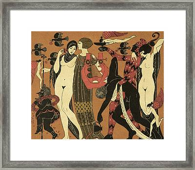 Illustration From Les Chansons De Bilitis Framed Print