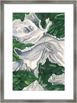 Framed Print featuring the painting Impression Of Azaleas  by Antonia Citrino