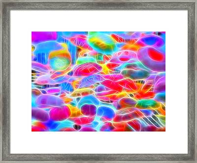 In Color Abstract 9 Framed Print by Cathy Anderson
