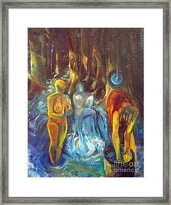 In The Name Of The Mother Sister Daughter Framed Print