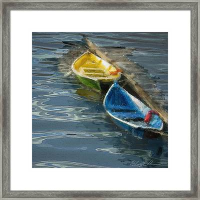Framed Print featuring the digital art 2 In Waiting by Dale Stillman
