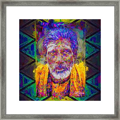 #india #asia #celebrity #love #fineart Framed Print