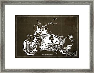 Indian Chief Dark Horse 2012  Blueprint Framed Print by Pablo Franchi