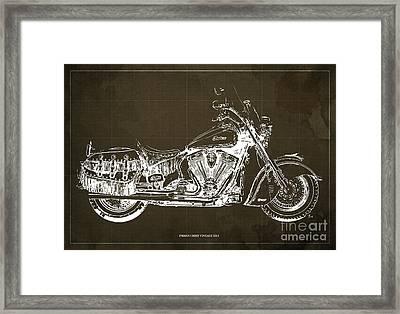 Indian Chief Vintage 2012 Blueprint Framed Print