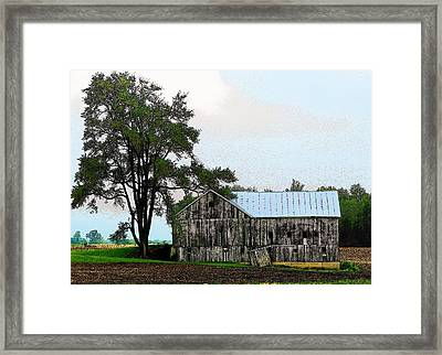 Indiana Barn Framed Print