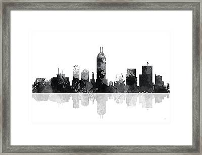 Indiana Indianapolis Skyline Framed Print
