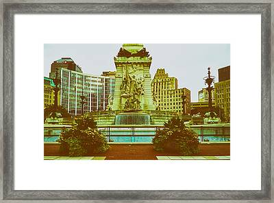 Indianapolis Soldiers And Sailors Monument Framed Print by L O C