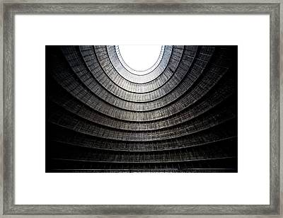 Industrial Decay Inside Cooling Tower Of Electrical Power Plant  Framed Print by Dirk Ercken