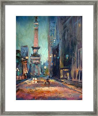 Indy Circle Monument Framed Print by Donna Shortt