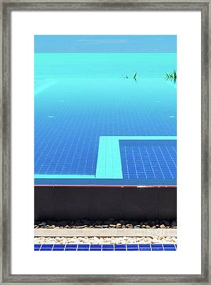 Framed Print featuring the photograph Infinity Pool by Atiketta Sangasaeng