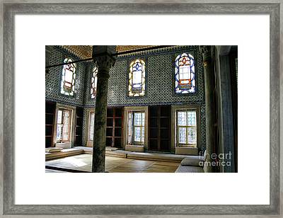 Framed Print featuring the photograph Inside The Harem Of The Topkapi Palace by Patricia Hofmeester