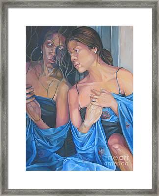 Introspect Framed Print by Julie Orsini Shakher