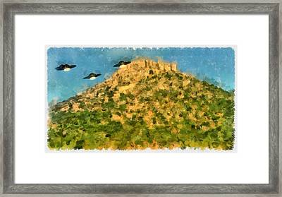 Invasion Framed Print by Esoterica Art Agency