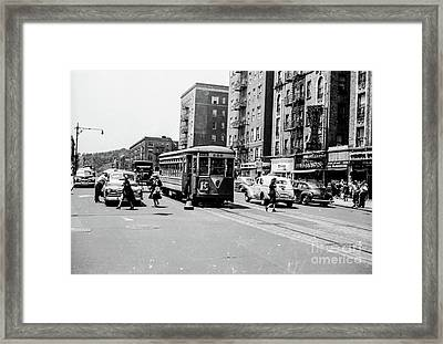 Framed Print featuring the photograph Inwood Trolley  by Cole Thompson