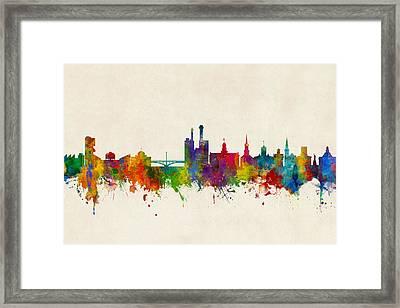 Iowa City Iowa Skyline Framed Print