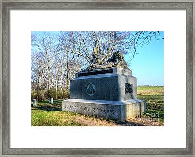 Irish Brigade, 2nd Brigade, 1st Div, 2 Corp Monument Framed Print by William Rogers