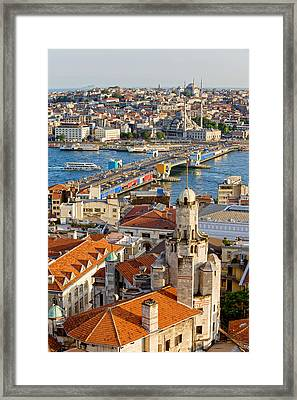 Istanbul Cityscape Framed Print